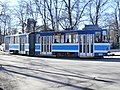 Tram 100 near J. Poska Stop in Tallinn 14 March 2015.JPG
