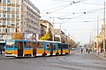 Tram in Sofia near Macedonia place 2012 PD 092.jpg