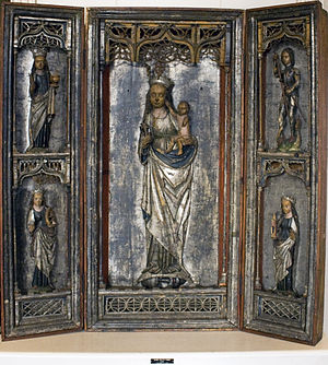 Broel Museum - Image: Triptych of Virgin Mary with Elisabeth of Hungary
