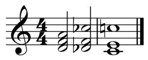 Leading-tone - Image: Tritone substitution ii sub V I