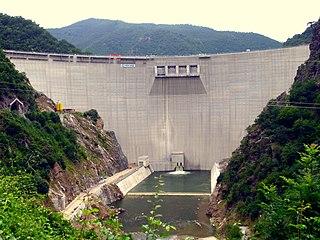Tsankov Kamak Hydro Power Plant Dam in Tsankov Kamak downsream of Devin