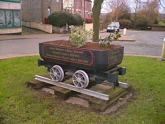 Stanton Hill - Mining Tub on the Roundabout, Stanton Hill