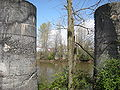 Tukwila - piers of former Duwamish bridge on 38th Avenue S 02.jpg