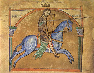 Ferdinand II of León - Ferdinand, from the Tumbo A cartulary of the Cathedral of Santiago de Compostela.
