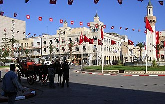Sfax - Looking across the Place de la République towards Sfax city hall (photographed in 2005).