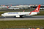 Turkish Airlines, TC-JHD, Boeing 737-8F2 (44574951954).jpg