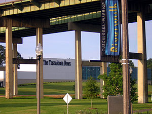The Tuscaloosa News - Tuscaloosa News headquarters seen from the Riverwalk
