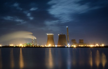 Thoothukudi Thermal Power Station at Night Tuticorin Thermal Power Station at Night 1 crop.jpg