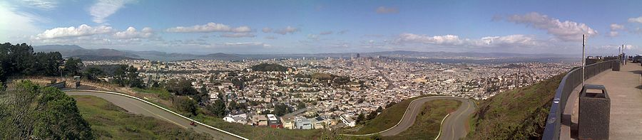 View To The Northeast Towards Downtown San Francisco