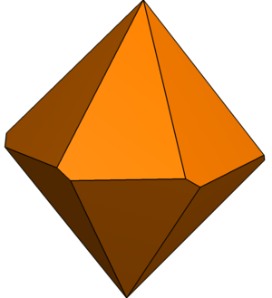 Hexagonal trapezohedron - Image: Twisted hexagonal trapezohedron 2