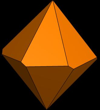 Hexagonal trapezohedron - Image: Twisted hexagonal trapezohedron 2