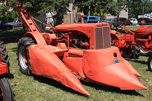 Allis-Chalmers - A two-row corn picker.