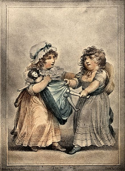440px-Two_young_girls_fight_over_a_doll_which_they_both_lay_claim_Wellcome_V0038789.jpg (440×599)