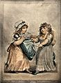 Two young girls fight over a doll which they both lay claim Wellcome V0038789.jpg