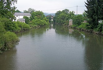 Tygart Valley River - The Tygart Valley River in Elkins in 2006