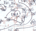 Typhoon Tess August 16, 1966 surface analysis.png