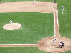 Escena típica de béisbol. ffbe17b979e
