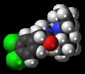 U-50488 molecule spacefill.png