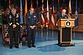 U.S. Air Force Deputy Chief of Chaplains Brig. Gen. Bobby V. Page, Headquarters Pentagon, delivers the invocation during the retirement ceremony of Maj. Gen. Timothy A. Byers, center, the Civil Engineer 130621-A-WP504-058.jpg