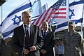 U.S. Defense Secretary Chuck Hagel speaks with U.S. and Israeli troops conducting Juniper Cobra 14 at an air base outside Tel Aviv, Israel, May 15, 2014 140515-D-BW835-1032.jpg
