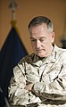 U.S. Marine Corps Gen. Joseph F. Dunford Jr., the outgoing commander of the International Security Assistance Force and U.S. Forces-Afghanistan, participates in a change of command ceremony in Kabul 140826-D-HU462-338.jpg