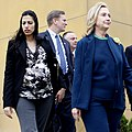 U.S. Secretary of State Hillary Rodham Clinton, center, visits the U.S. Embassy in Kabul, Afghanistan, Oct. 20, 2011 111020-S-PA947-1212 (Clinton and Abedin 02).jpg