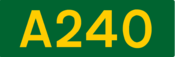 A240 road shield