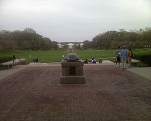 McKeldin Mall - A view from the front entrance of the library.