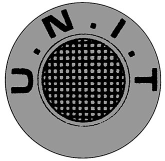 UNIT - U.N.I.T logo, first seen in the 1968 Doctor Who story The Invasion