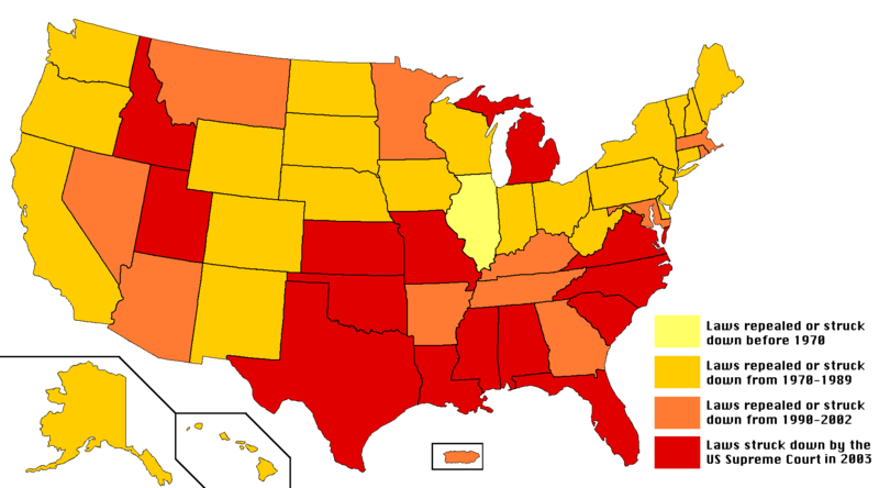Anal sex laws in the states