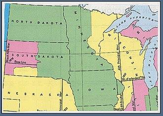 Fifth principal meridian - Image: USBLM meridian map 5th PM north