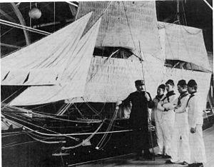 USS Antietam sailors in training