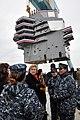 USS Gerald R. Ford island installation with Susan Ford Bales (130126-N-YX169-191).jpg
