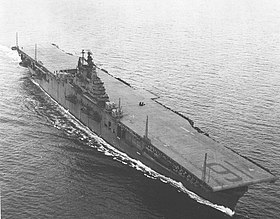 Die USS Lexington am 20. Februar 1944
