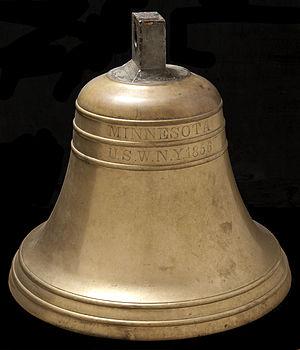 USS Minnesota (1855) - Image: USS Minnesota Bell 2
