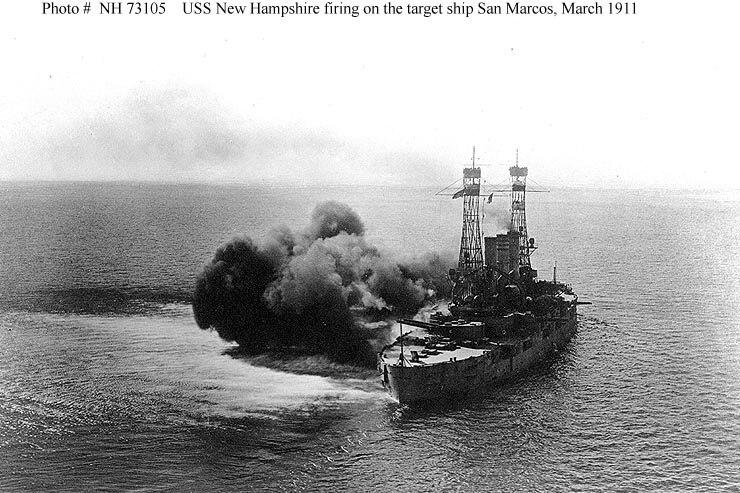 USS New Hampshire gunnery training 1911