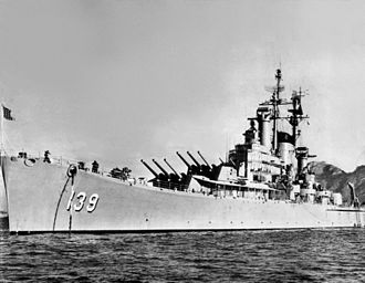Heavy cruiser - The last remaining heavy cruiser worldwide, USS Salem as she appeared in 1957