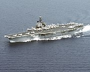 USS Saratoga (CV-60) underway in the Adriatic Sea on 29 July 1992 (6480624)