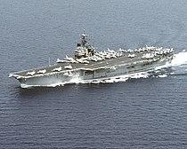 USS Saratoga (CV-60) underway in the Adriatic Sea on 29 July 1992 (6480624).jpg