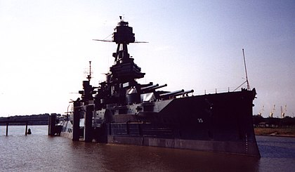 USS Texas (BB-35), the oldest remaining dreadnought. USS Texas 1.jpg