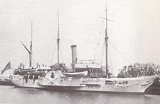 USS Michigan (1843) - USS Wolverine in a Great Lakes port in the early 1900s.