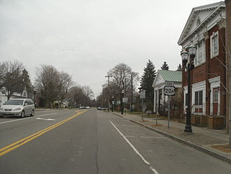 U.S. Route 20A (New York) - Eastbound on US 20A in the village of Orchard Park