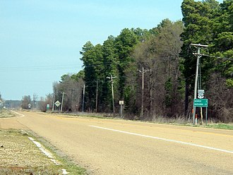 U.S. Route 79 - US 79 north of US 49 junction near Monroe. This segment is also an Arkansas Heritage Trail Trail of Tears route.