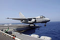 US Navy 030601-N-9712C-003 An S-3 Viking is the last aircraft in history to launch from the flight deck of USS Constellation (CV 64).jpg