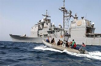 USS Leyte Gulf - Image: US Navy 040501 N 7586B 122