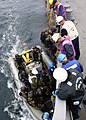 US Navy 060418-N-2893B-001 Guided-missile destroyer USS Porter (DDG 78) Visit, Board, Search and Seizure (VBSS) team members board a rigid-hulled inflatable boat in preparation for training aboard the Bulgarian frigate BGS Draz.jpg