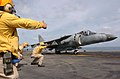 US Navy 061029-N-2970T-008 Chief Aviation Boatswain's Mate Marc Hermosura gives the clear to launch signal.jpg