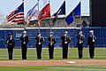US Navy 070330-N-0924R-044 A Joint Services Color Guard present the colors during an exhibition game between the Major League Baseball (MLB) Washington Nationals and Baltimore Orioles at Harbor Park, March 30.jpg