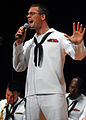US Navy 080917-N-2013O-001 Musician 2nd Class Alex Ivy sings a solo during a 7th Fleet Band performance.jpg