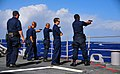 US Navy 090128-N-4774B-025 Sailors fire the Beretta M9 9mm pistol during live-fire training.jpg